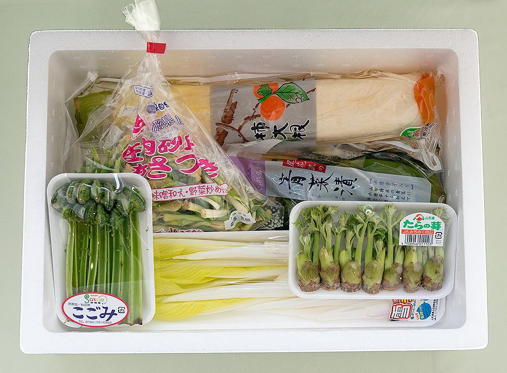 山形春先取り野菜とお漬物の6点セット